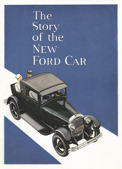 Roaring 1920s Ford Model A Sport Coupe The Story Of 1928 | Roaring 1920s Ad Art and Magazine Cover Art