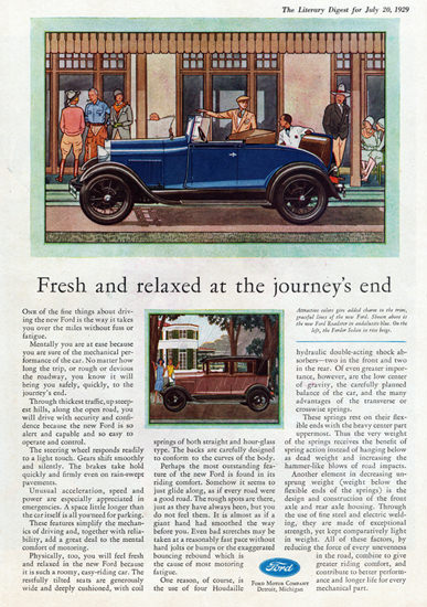 Roaring 1920s Ford Roadster 1929 Fresh And Relaxed At End | Roaring 1920s Ad Art and Magazine Cover Art