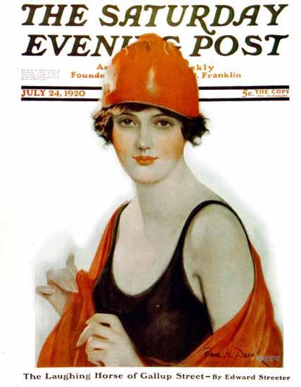 Roaring 1920s Frank H Desch Saturday Evening Post 1920_07_24 | Roaring 1920s Ad Art and Magazine Cover Art