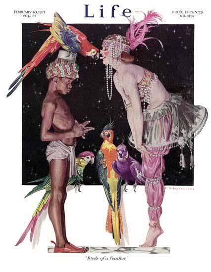 Roaring 1920s Frank X Leyendecker Life Magazine 1921-02-10 Copyright | Roaring 1920s Ad Art and Magazine Cover Art