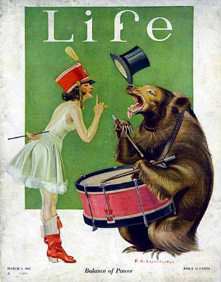 Roaring 1920s Frank X Leyendecker Life Magazine 1922-03-09 Copyright | Roaring 1920s Ad Art and Magazine Cover Art