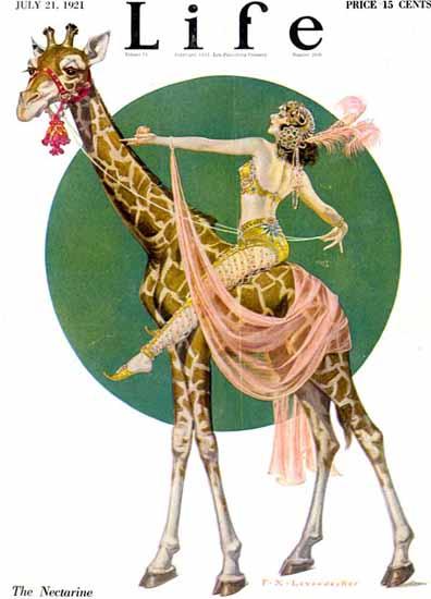 Roaring 1920s Frank X Leyendecker Life Nectarine 1921-07-21 Copyright   Roaring 1920s Ad Art and Magazine Cover Art