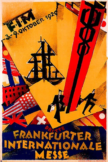 Roaring 1920s Frankfurter Internationale Messe 1920 | Roaring 1920s Ad Art and Magazine Cover Art