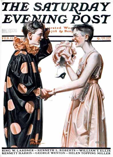Roaring 1920s Frederic Stanley Saturday Evening Post 1921_02_12 | Roaring 1920s Ad Art and Magazine Cover Art