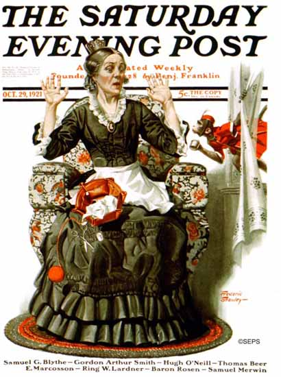 Roaring 1920s Frederic Stanley Saturday Evening Post 1921_10_29 | Roaring 1920s Ad Art and Magazine Cover Art