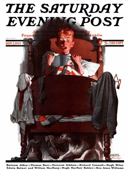 Roaring 1920s Frederic Stanley Saturday Evening Post 1925_11_07 | Roaring 1920s Ad Art and Magazine Cover Art