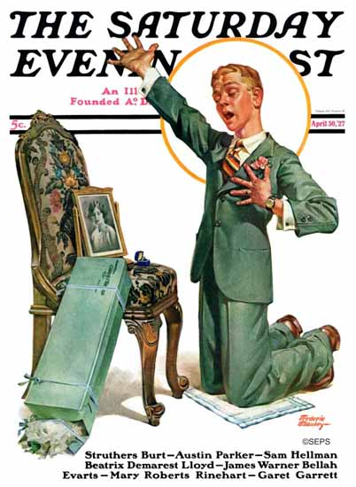 Roaring 1920s Frederic Stanley Saturday Evening Post 1927_04_30 | Roaring 1920s Ad Art and Magazine Cover Art
