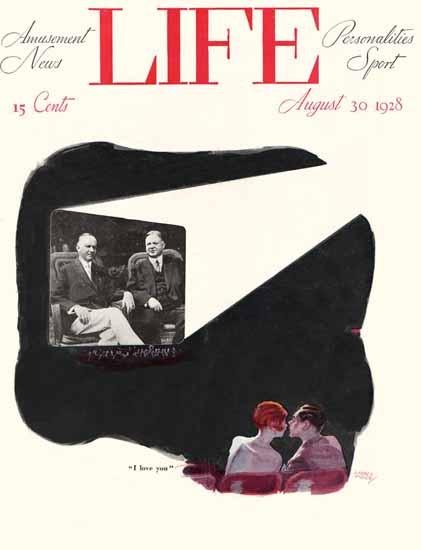 Roaring 1920s Garrett Price Life Humor Magazine 1928-08-30 Copyright | Roaring 1920s Ad Art and Magazine Cover Art