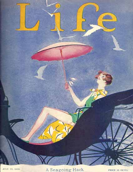 Roaring 1920s Garrett Price Life Magazine Hack 1926-07-22 Copyright | Roaring 1920s Ad Art and Magazine Cover Art