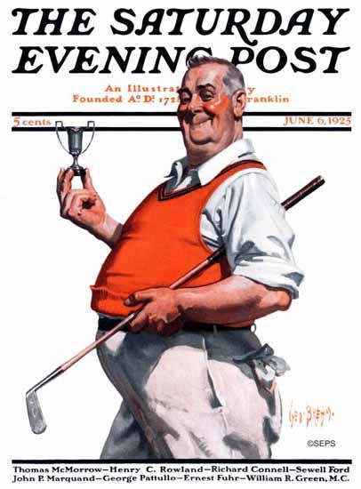 Roaring 1920s George Brehm Saturday Evening Post Golf 1925_06_06 | Roaring 1920s Ad Art and Magazine Cover Art