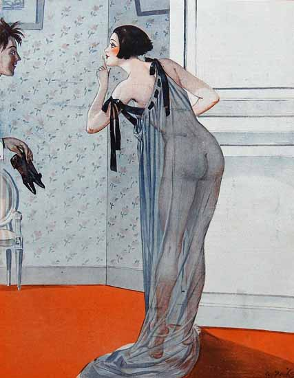 Roaring 1920s George Pavis La Vie Parisienne 1923 Chateau page | Roaring 1920s Ad Art and Magazine Cover Art