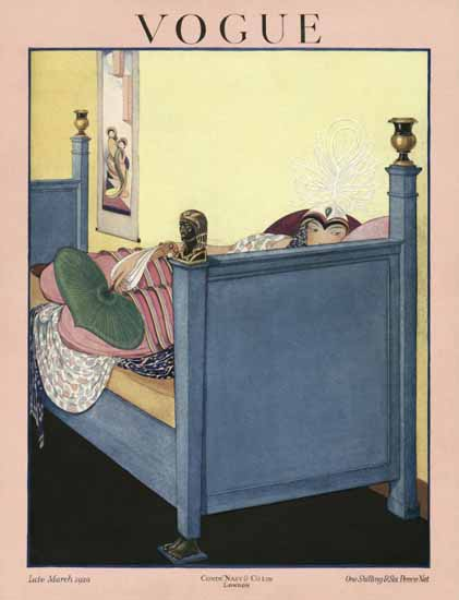Roaring 1920s George Wolfe Plank Vogue Cover 1920-03-31 Copyright | Roaring 1920s Ad Art and Magazine Cover Art