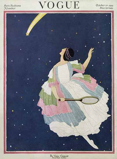 Roaring 1920s George Wolfe Plank Vogue Cover 1921-10-15 Copyright   Roaring 1920s Ad Art and Magazine Cover Art