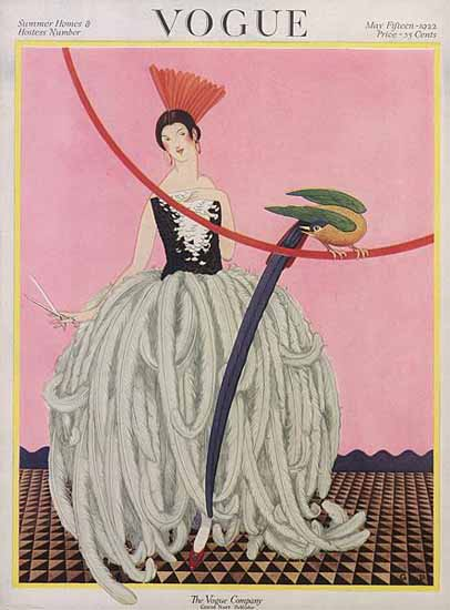 Roaring 1920s George Wolfe Plank Vogue Cover 1922-05-15 Copyright | Roaring 1920s Ad Art and Magazine Cover Art