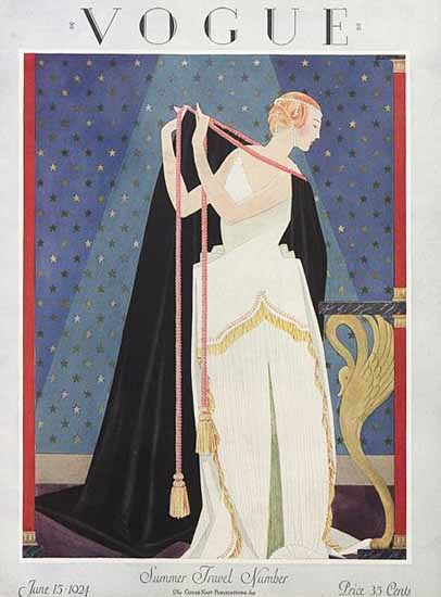 Roaring 1920s George Wolfe Plank Vogue Cover 1924-06-15 Copyright | Roaring 1920s Ad Art and Magazine Cover Art