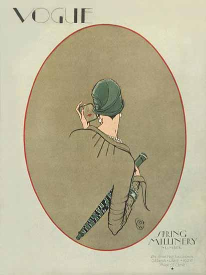 Roaring 1920s George Wolfe Plank Vogue Cover 1926-03-01 Copyright   Roaring 1920s Ad Art and Magazine Cover Art