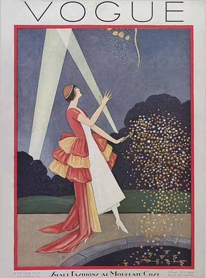Roaring 1920s George Wolfe Plank Vogue Cover 1926-05-15 Copyright | Roaring 1920s Ad Art and Magazine Cover Art