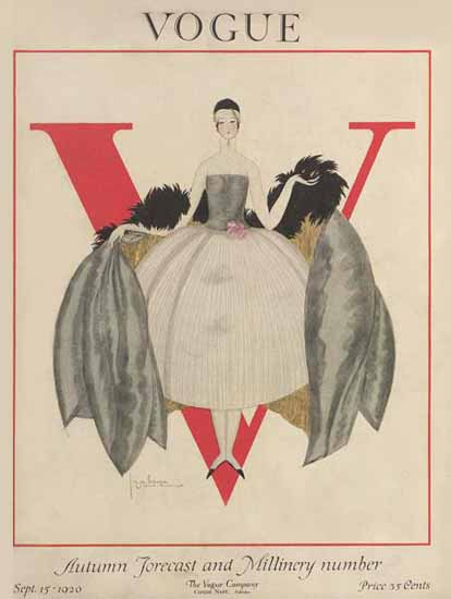 Roaring 1920s Georges Lepape Vogue Cover 1920-09-15 Copyright | Roaring 1920s Ad Art and Magazine Cover Art