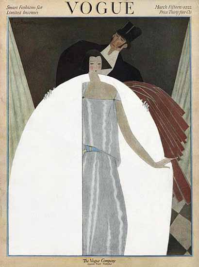 Roaring 1920s Georges Lepape Vogue Cover 1922-03-15 Copyright | Roaring 1920s Ad Art and Magazine Cover Art
