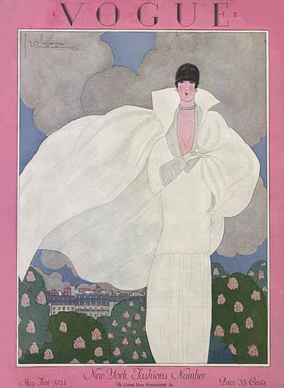 Roaring 1920s Georges Lepape Vogue Cover 1925-05-01 Copyright | Roaring 1920s Ad Art and Magazine Cover Art