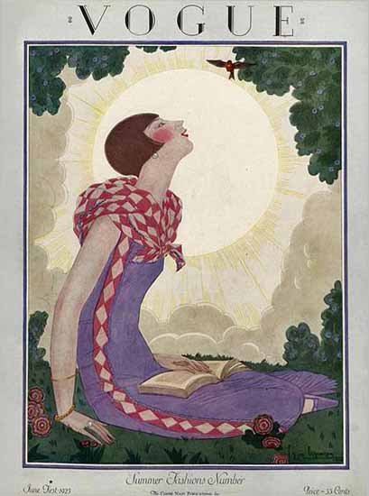 Roaring 1920s Georges Lepape Vogue Cover 1925-06-01 Copyright | Roaring 1920s Ad Art and Magazine Cover Art