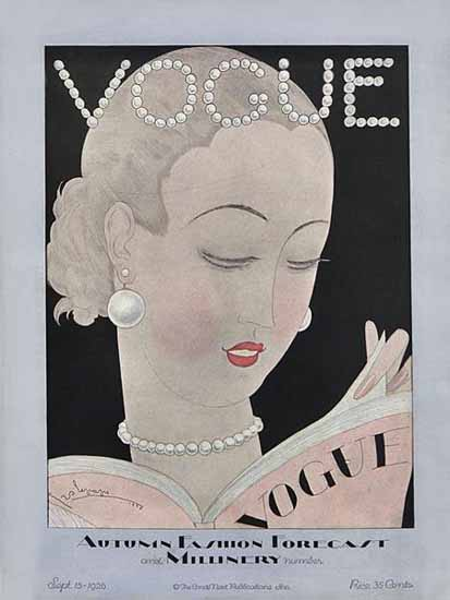 Roaring 1920s Georges Lepape Vogue Cover 1926-09-15 Copyright | Roaring 1920s Ad Art and Magazine Cover Art