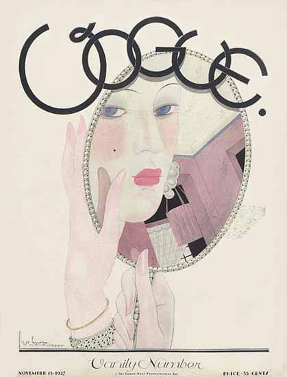 Roaring 1920s Georges Lepape Vogue Cover 1927-11-15 Copyright | Roaring 1920s Ad Art and Magazine Cover Art