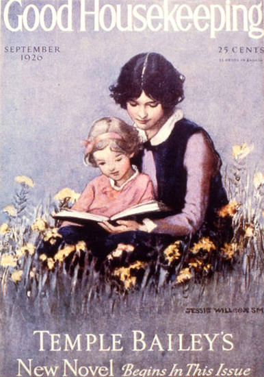 Roaring 1920s Good Housekeeping Copyright 1926 Little Girl And Mum | Roaring 1920s Ad Art and Magazine Cover Art