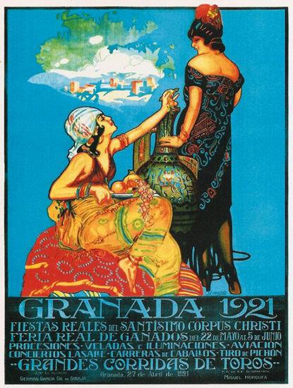 Roaring 1920s Granada 1921 Grandes Corridas De Toros | Roaring 1920s Ad Art and Magazine Cover Art