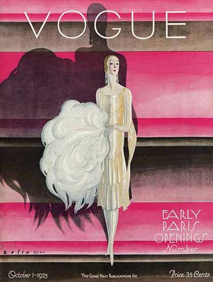 Roaring 1920s Guillermo Bolin Vogue Cover 1925-10-01 Copyright | Roaring 1920s Ad Art and Magazine Cover Art
