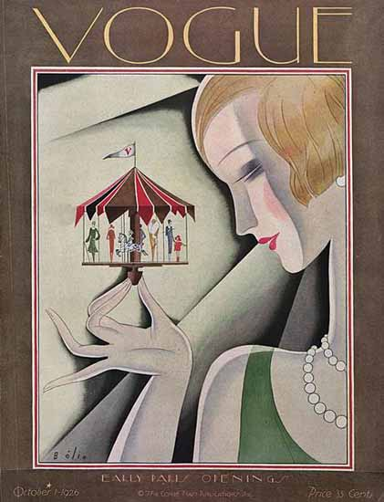 Roaring 1920s Guillermo Bolin Vogue Cover 1926-10-01 Copyright | Roaring 1920s Ad Art and Magazine Cover Art