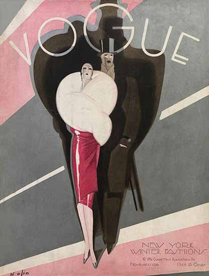 Roaring 1920s Guillermo Bolin Vogue Cover 1926-11-01 Copyright | Roaring 1920s Ad Art and Magazine Cover Art