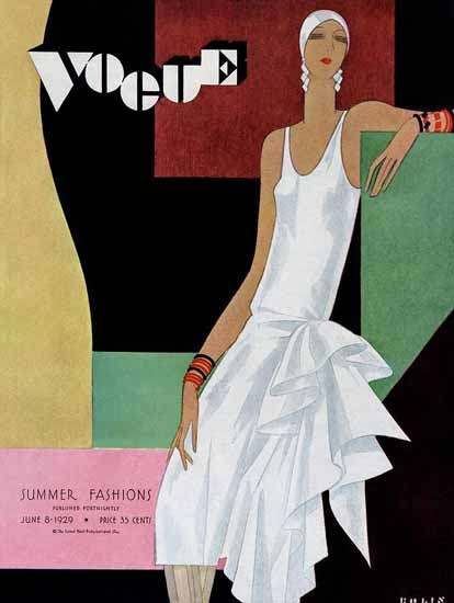 Roaring 1920s Guillermo Bolin Vogue Cover 1929-06-08 Copyright | Roaring 1920s Ad Art and Magazine Cover Art
