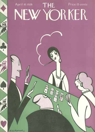Roaring 1920s HO Hofman The New Yorker 1926_04_10 Copyright | Roaring 1920s Ad Art and Magazine Cover Art