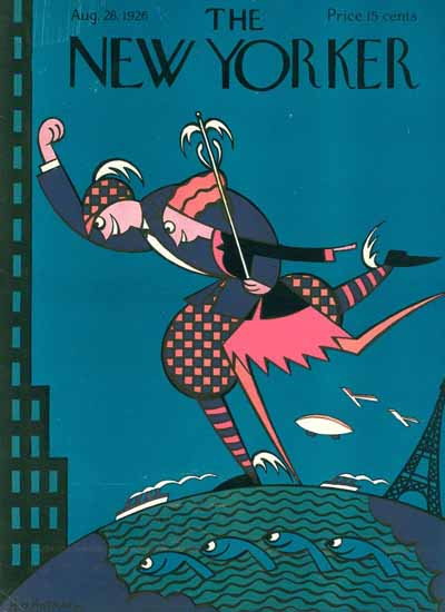 Roaring 1920s HO Hofman The New Yorker 1926_08_28 Copyright | Roaring 1920s Ad Art and Magazine Cover Art