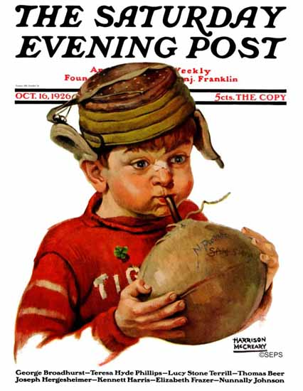 Roaring 1920s Harrison McCreary Saturday Evening Post 1926_10_16 | Roaring 1920s Ad Art and Magazine Cover Art