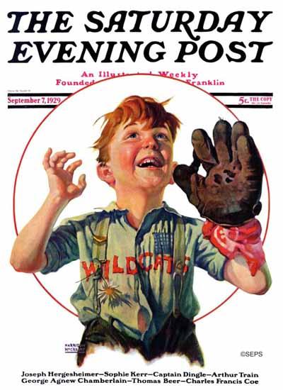 Roaring 1920s Harrison McCreary Saturday Evening Post Wild 1929_09_07 | Roaring 1920s Ad Art and Magazine Cover Art