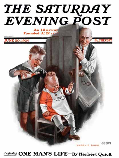 Roaring 1920s Harry C Edwards Saturday Evening Post Cover 1925_06_20 | Roaring 1920s Ad Art and Magazine Cover Art