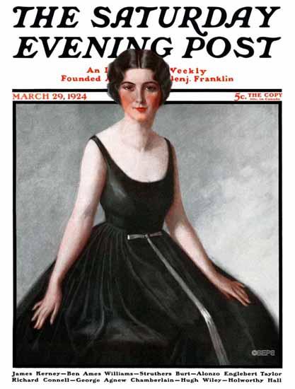Roaring 1920s Harry Solon Saturday Evening Post Cover Art 1924_03_29 | Roaring 1920s Ad Art and Magazine Cover Art