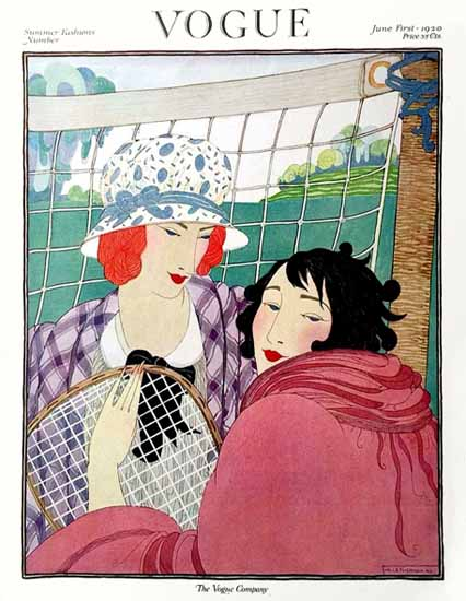 Roaring 1920s Helen Dryden Vogue Cover 1920-06-01 Copyright | Roaring 1920s Ad Art and Magazine Cover Art
