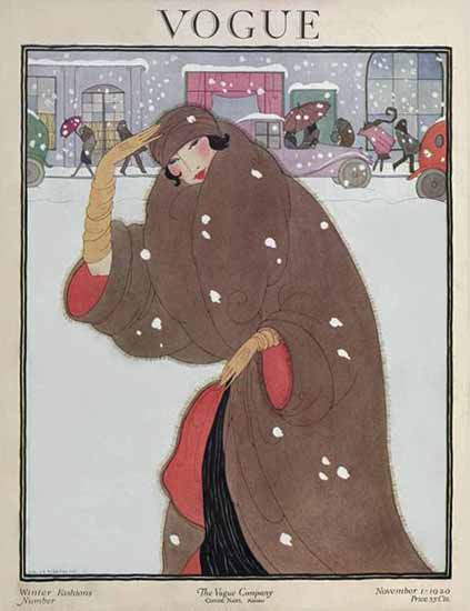 Roaring 1920s Helen Dryden Vogue Cover 1920-11-01 Copyright   Roaring 1920s Ad Art and Magazine Cover Art