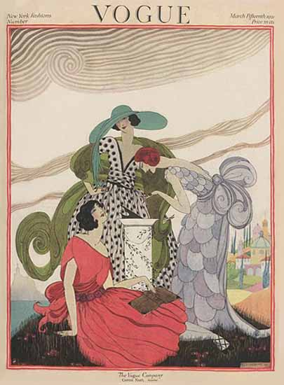 Roaring 1920s Helen Dryden Vogue Cover 1921-03-15 Copyright | Roaring 1920s Ad Art and Magazine Cover Art
