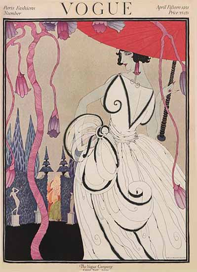 Roaring 1920s Helen Dryden Vogue Cover 1921-04-15 Copyright | Roaring 1920s Ad Art and Magazine Cover Art