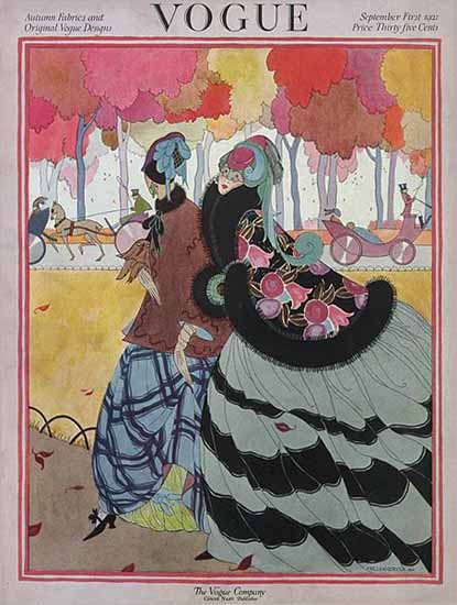 Roaring 1920s Helen Dryden Vogue Cover 1921-09-01 Copyright   Roaring 1920s Ad Art and Magazine Cover Art