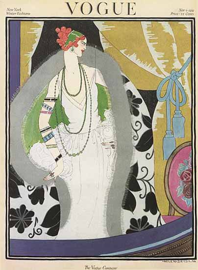 Roaring 1920s Helen Dryden Vogue Cover 1921-11-01 Copyright | Roaring 1920s Ad Art and Magazine Cover Art