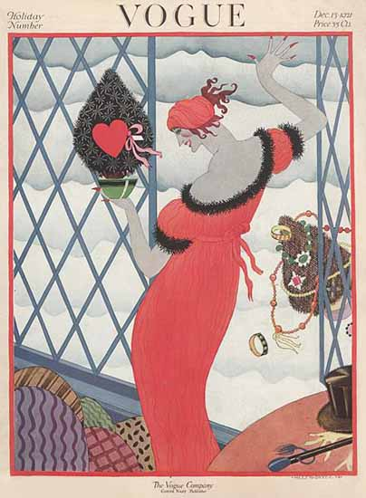 Roaring 1920s Helen Dryden Vogue Cover 1921-12-15 Copyright | Roaring 1920s Ad Art and Magazine Cover Art
