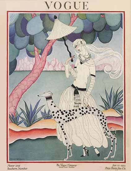 Roaring 1920s Helen Dryden Vogue Cover 1922-01-15 Copyright   Roaring 1920s Ad Art and Magazine Cover Art