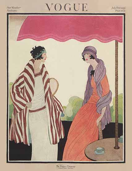 Roaring 1920s Helen Dryden Vogue Cover 1922-07-01 Copyright   Roaring 1920s Ad Art and Magazine Cover Art