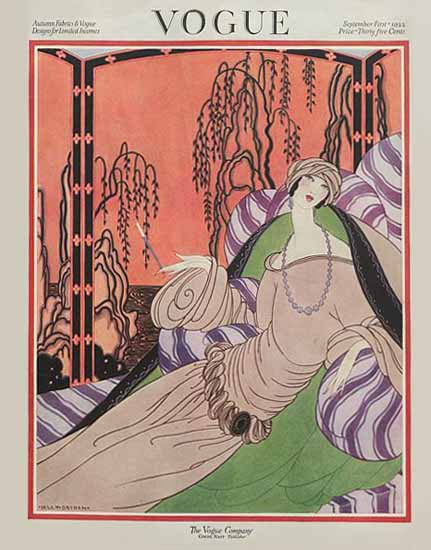 Roaring 1920s Helen Dryden Vogue Cover 1922-09-01 Copyright | Roaring 1920s Ad Art and Magazine Cover Art