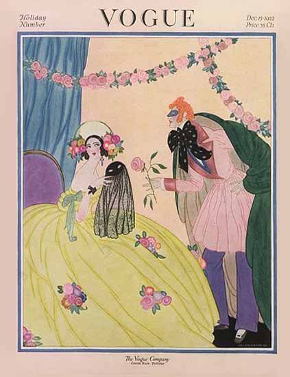 Roaring 1920s Helen Dryden Vogue Cover 1922-12-15 Copyright | Roaring 1920s Ad Art and Magazine Cover Art